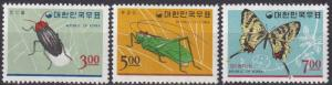 Korea #499-501 F-VF Unused  CV $8.90 (A18188)