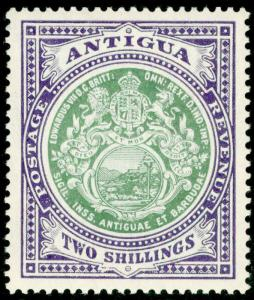 ANTIGUA SG50, 2s grey-green & violet, LH MINT. Cat £110.