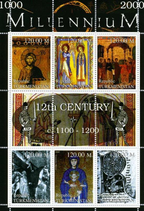 Turkmenistan MNH S/S 12th Century Importance Events 1999