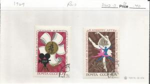 Russia 3602-03 VFU 1969