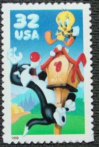 3204a Sylvester & Tweety Single Mint/nh FREE SHIPPING
