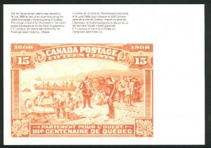 Canada Post card of 1908   Mint NH VF 1982 PD