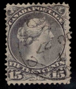 Canada Dominion Scott 29 Used Large Queen nicely centered attractive color