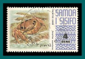 Samoa 1972 Painted Crab, used #372,SG393