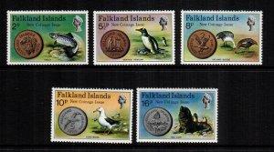Falkland islands  245 - 249  MNH cat $ 10.00