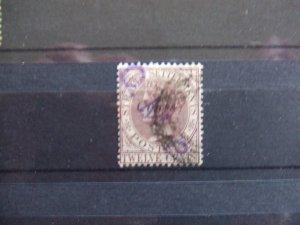 Straits QV 1884 8c on 12c brown purple SG75
