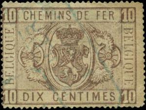Belgium Scott #Q2 Used Parcel Post
