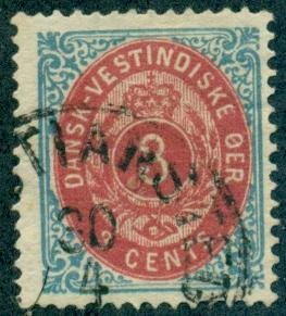 Danish West Indies #6e  Used  Scott $20.00
