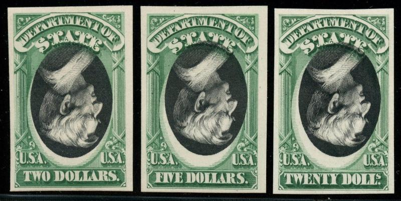 #O68P4a, O69P4a, O71P4a INVERTED CENTER ERRORS XF+ GEM SET- FINEST KNOWN WLM2299