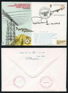 C38d 25th Ann Radio Engineering unit RAF Signed by AM Sir Reginald E.W. Harland