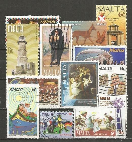 Malta various stamps