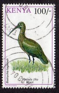 Kenya 610 - Used - 100sh Hadada Ibis (1993) (cv $6.50)