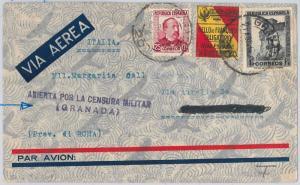 SPAIN  España - POSTAL HISTORY - GUERRA CIVIL cover with Military censor GRANADA