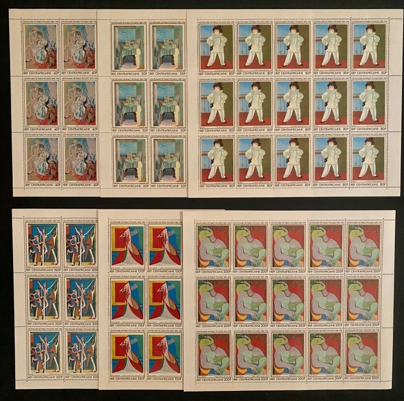 Stamps Complete Set In Sheets Painter Picasso Perf.