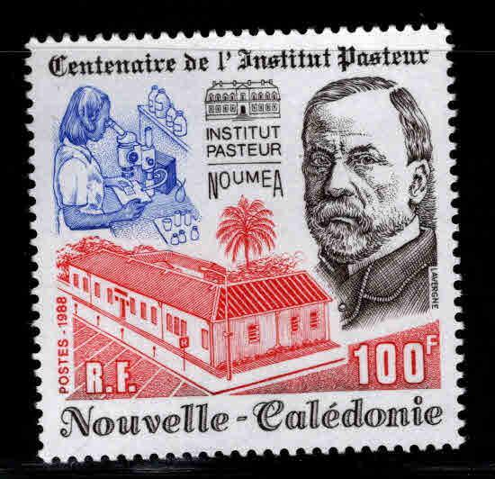 New Caledonia (NCE) Scott 601 MNH** Pasteur stamp 1988