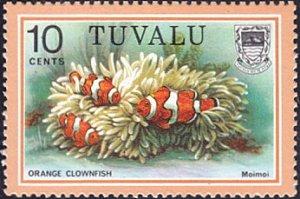 Tuvalu # 102 mnh ~ 10¢ Fish