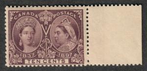 Canada Sc#57 M/NH/F, 10c Jubilee, O.G., Cv. $425
