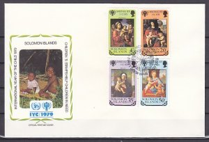 Solomon Is., Scott cat. 413-416. Year of the Child issue. First day cover. ^
