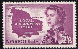 NORFOLK ISLAND # 42 Mint NH - SG40