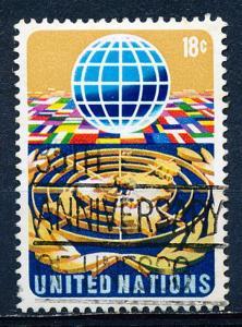 United Nations - New York #251 Single Used