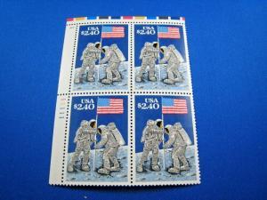 US SCOTT # 2419  -  SPACE PLATE BLOCK   MNH      (wr)