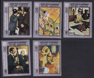 Aden - Kathiri State Hadhramaut # # 194A-198A, Degas Paintin