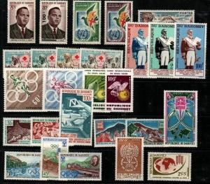 Dahomey Mint NH complete sets (Catalog Value $31.60)