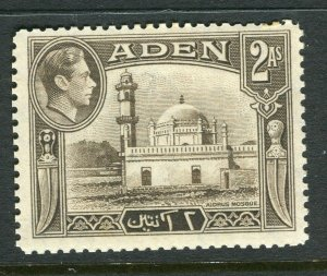 ADEN; 1938 early GVI issue fine Mint hinged Shade of 2a. value