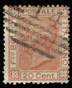 1877, king Victor Emmanuel II, 20 cent., Italy, MC #28, CV $ 5089 (T-7321)