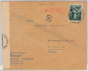 NETHERLANDS Nederland  POSTAL HISTORY: CENSORED COVER to PRAG Czechoslovakia