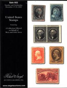 Robert A Siegel Sale #852 Auction Catalog