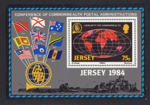 Jersey  1984  MNH links with the Commonwealth   sheet