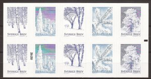 2015 Sweden -Sc 2763f - MNH VF - Complete Booklet -  Winter Trees - cyl 032182