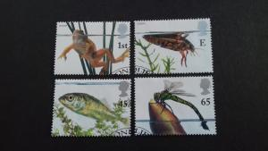 Great Britain 2001 EUROPA Stamps - Water, Treasure of Nature - Pond Life Used