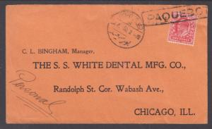 Great Britain Sc 128 on 1910 Port Said PAQUEBOT Cover to Chicago