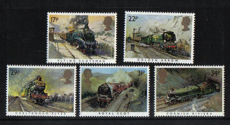 Great Britain 1984 MNH  famous trains complete