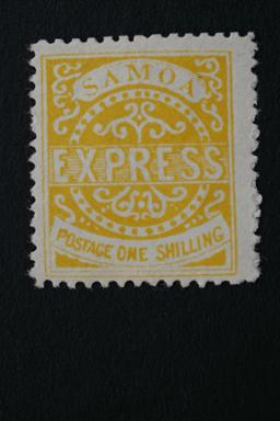 Samoa Express #6 One One Shilling 4th State Reprint 1887-82