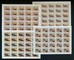 Stamps Full Set in Sheets Reptiles (crocodile/Snakes) Togo 1990 Perf.