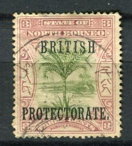 NORTH BORNEO; 1901 BRITISH PROTEC. issue fine used 3c. value + Postal cancel