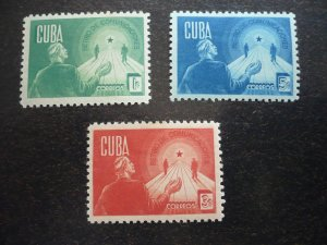 Stamps - Cuba - Scott# 381-383 - Mint Hinged Set of 3 Stamps