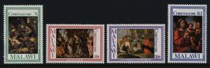 Malawi 390-3 MNH Christmas, Holy Family, Angel