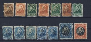 14x Canada Revenue Bill Stamps Series #3 1c to $2.00  Guide Value = $99.00