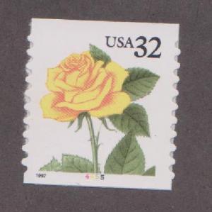 US #3054 Yellow Rose MNH PNC Single plate #4455