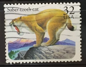 US #3080 Used F/VF - Saber-Tooth Cat 32c
