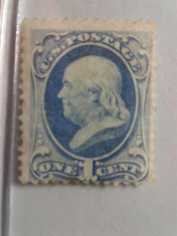 SCOTT # 182 USED GREAT COLOR VERY LIGHT CANCEL !!