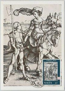 54224 - MALTA -  POSTAL HISTORY: MAXIMUM CARD - 1981   COSTUMES