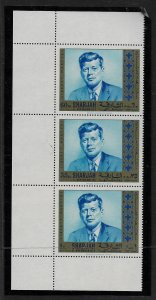CAMEROUN, UNLISTED, MNH,RARE STRIP OF 3, KENNEDY