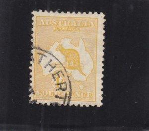 Australia: 4p, Kangaroo, Sc #6b, Used (32997)
