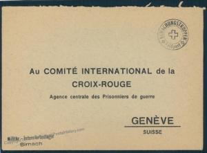 Switzerland WWII Internment Camp Sirnach Soldier Feldpost Cover 54134