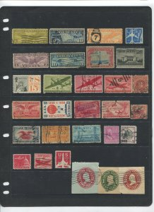 STAMP STATION PERTH USA Early Selection of 29 Stamps Unchecked Mint /Used-Lot 33